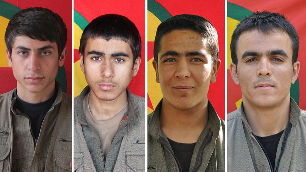 ANF   الدفاع الشعبي يكشف سجل 4 مقاتلين استشهدوا في أورامار