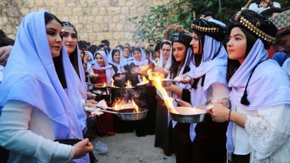 Anf الإدارة الذاتية في الجزيرة تهنئ الإيزيديين بمناسبة حلول رأس السنة الإيزيدية
